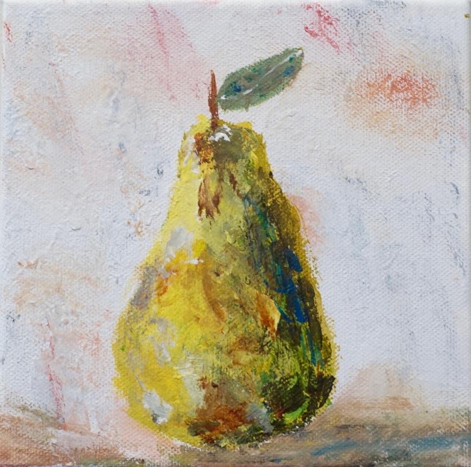 DF, A Winter Pear, ACRYLIC, 5x5, 2015