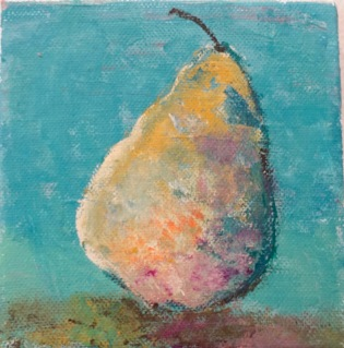 DL, Colorful Pear, ACRYLIC, 4.75X4.75, 2015