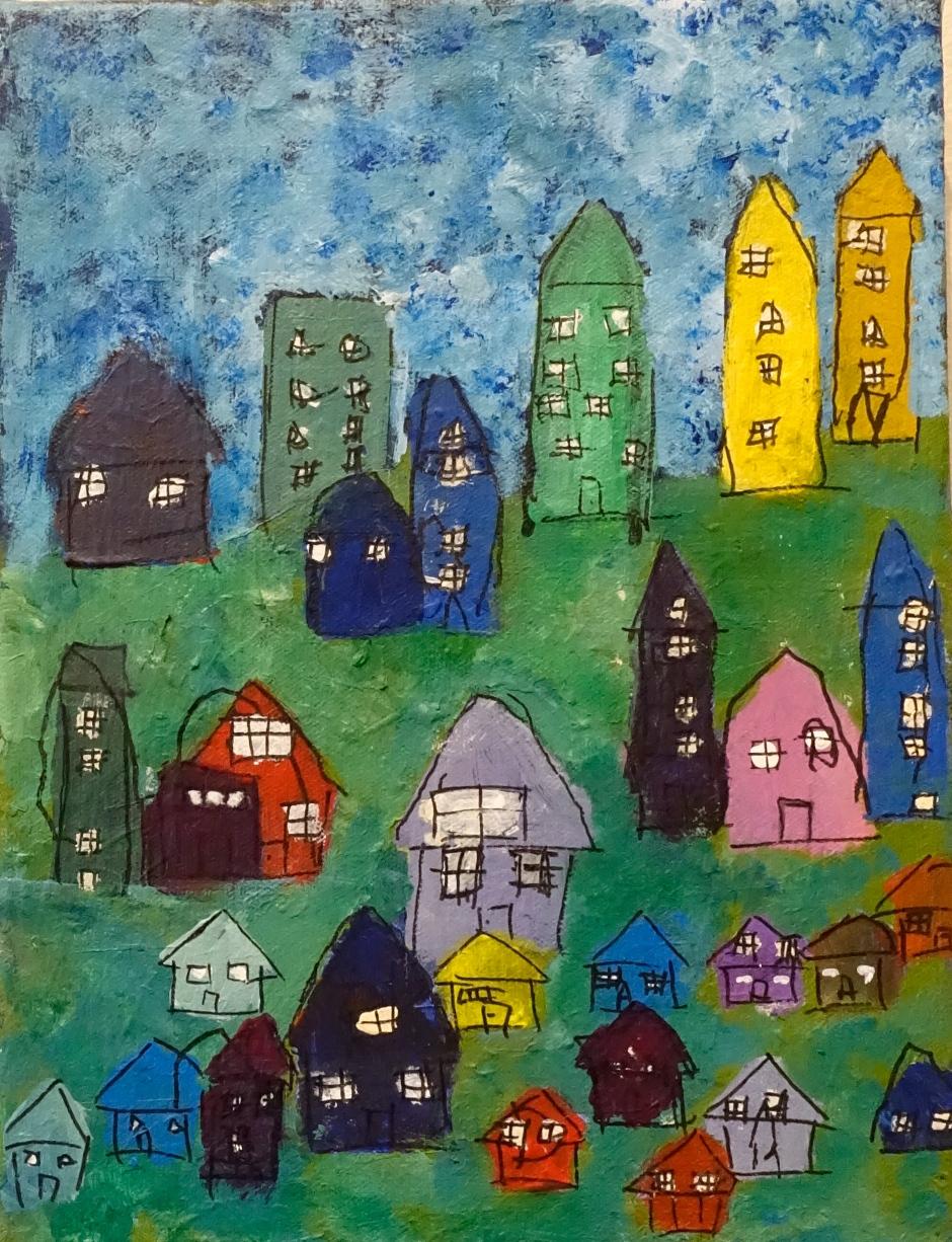 ME, House, ACRYLIC, 9X12, 2015
